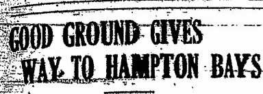 Good Ground - Hampton Bays